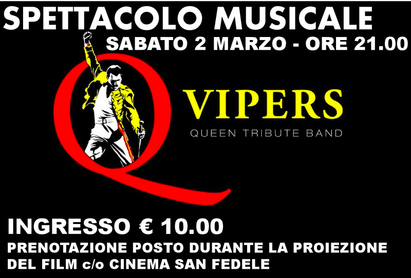 SPETTACOLO MUSICALE: QUEEN BY VIPERS